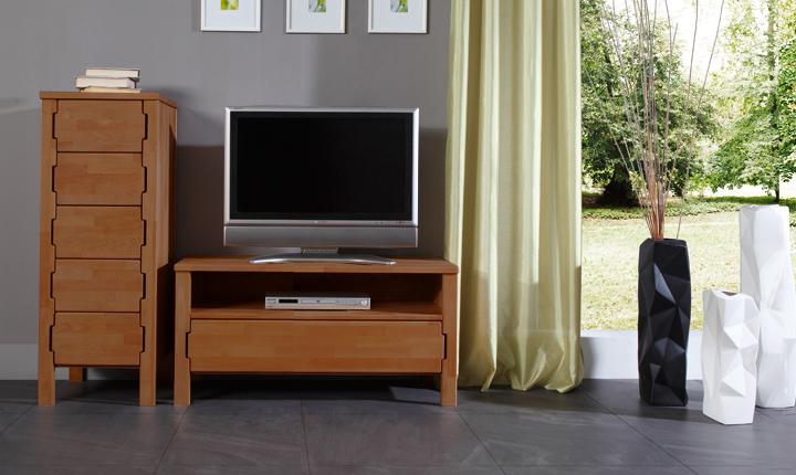 Comoda TV din lemn masiv de fag Koli TV 1000 nuc