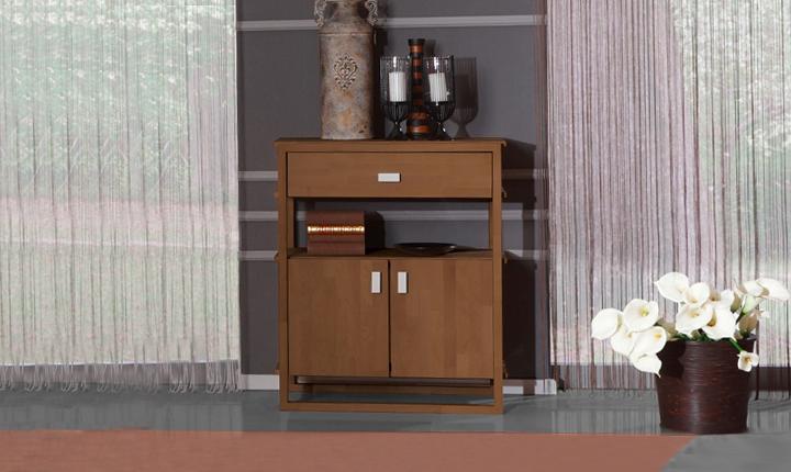 Dulap din lemn masiv de fag Minimal 850 1S2D nuc