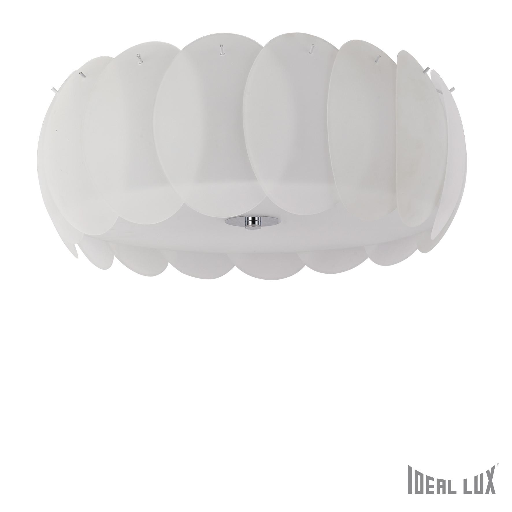 Plafoniera Ovalino Bianco Plafoniere Ilustratie
