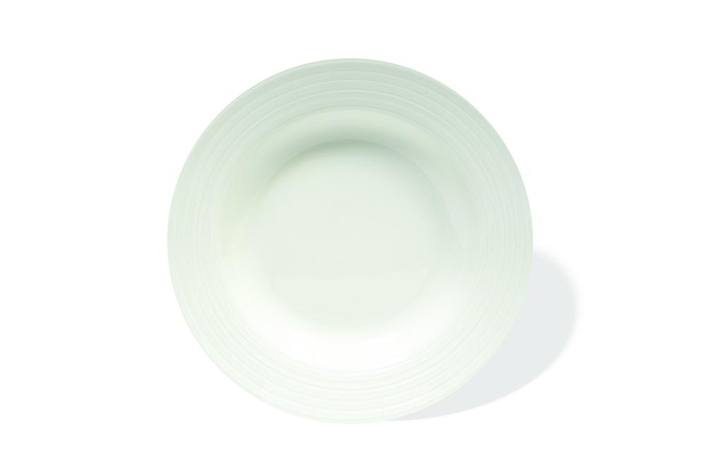 Set 6 farfurii supa, Portelan, White Basics Cirque, 23 cm