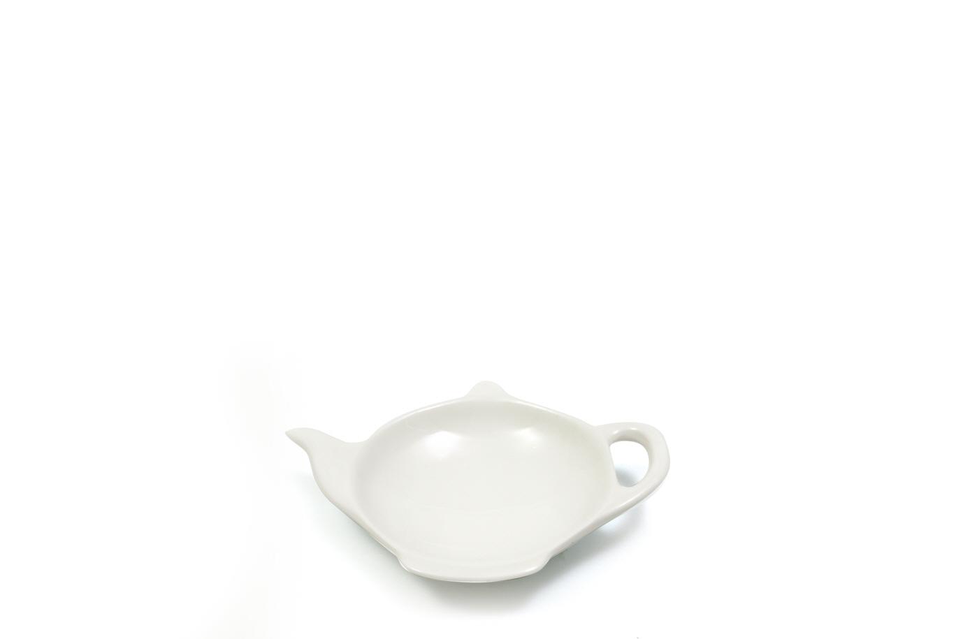 Set 12 Farfurii pentru plicuri ceai White Basics Tea Bag Tidy Alb, Portelan