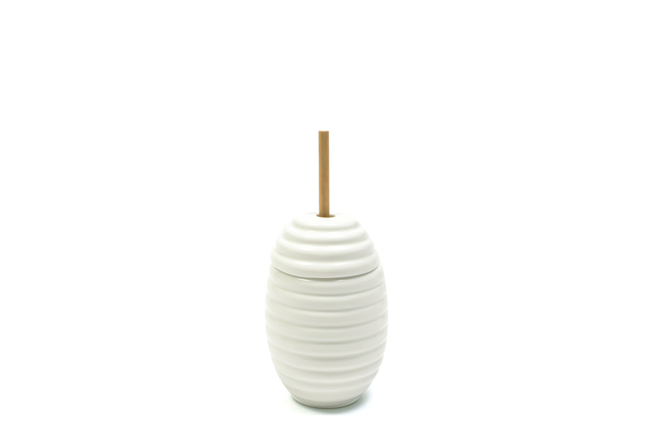 Recipient Pentru Miere White Basics Ribbed Honey A