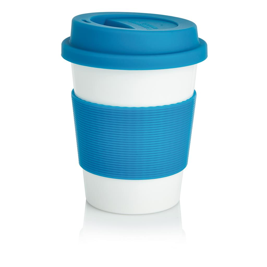 Cana cafea / ceai, White / Blue
