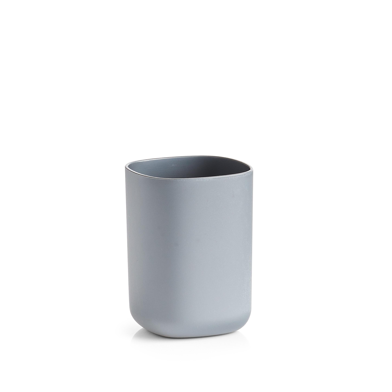 Pahar din plastic pentru periuta de dinti, Wellness Antracit, L7,3xl7,3xH9,5 cm imagine
