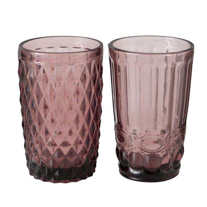 Pahar din sticla Aurora Roz inchis, Modele Asortate, Ø8xH13 cm somproduct.ro