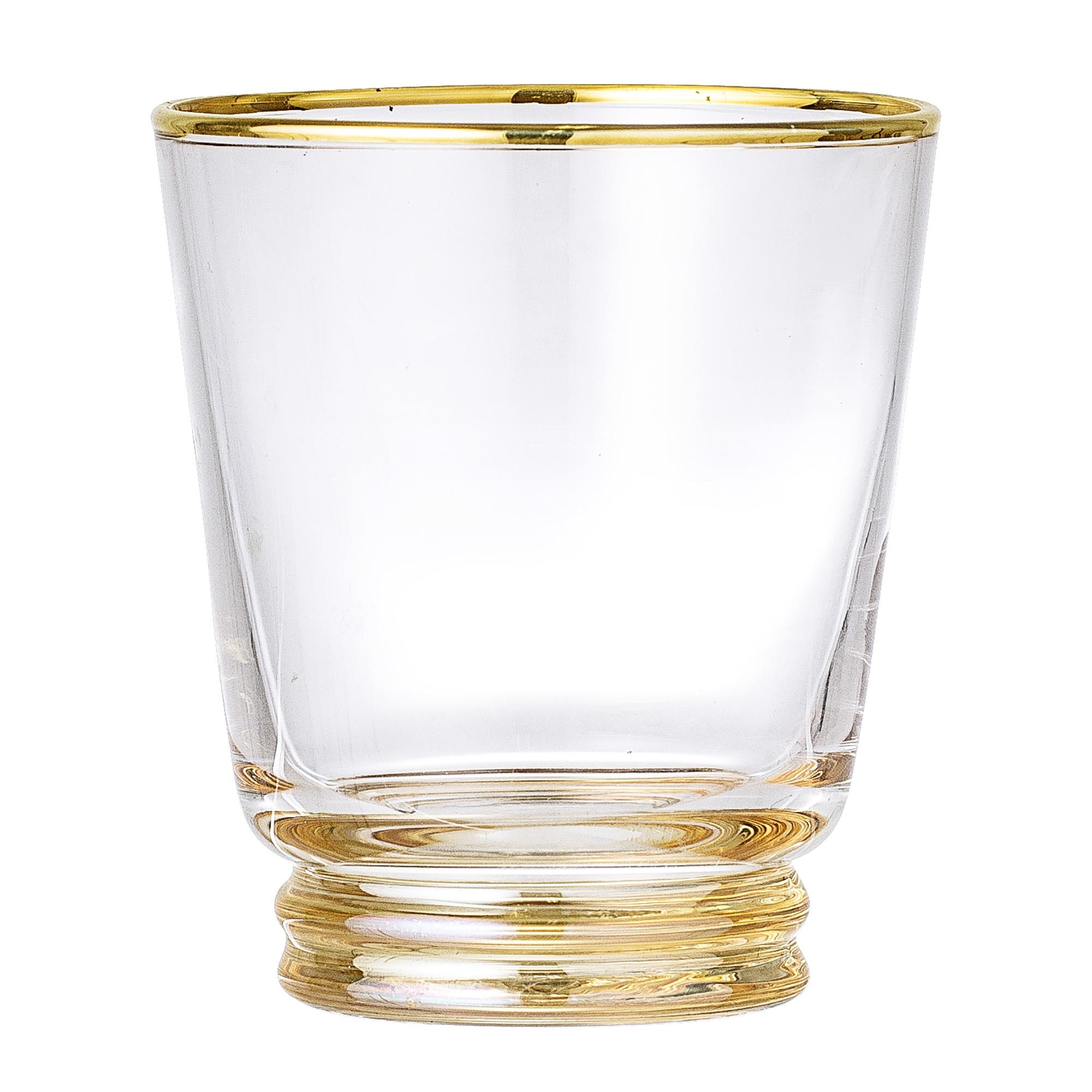 Pahar din sticla Clear Gold O9xh10 cm