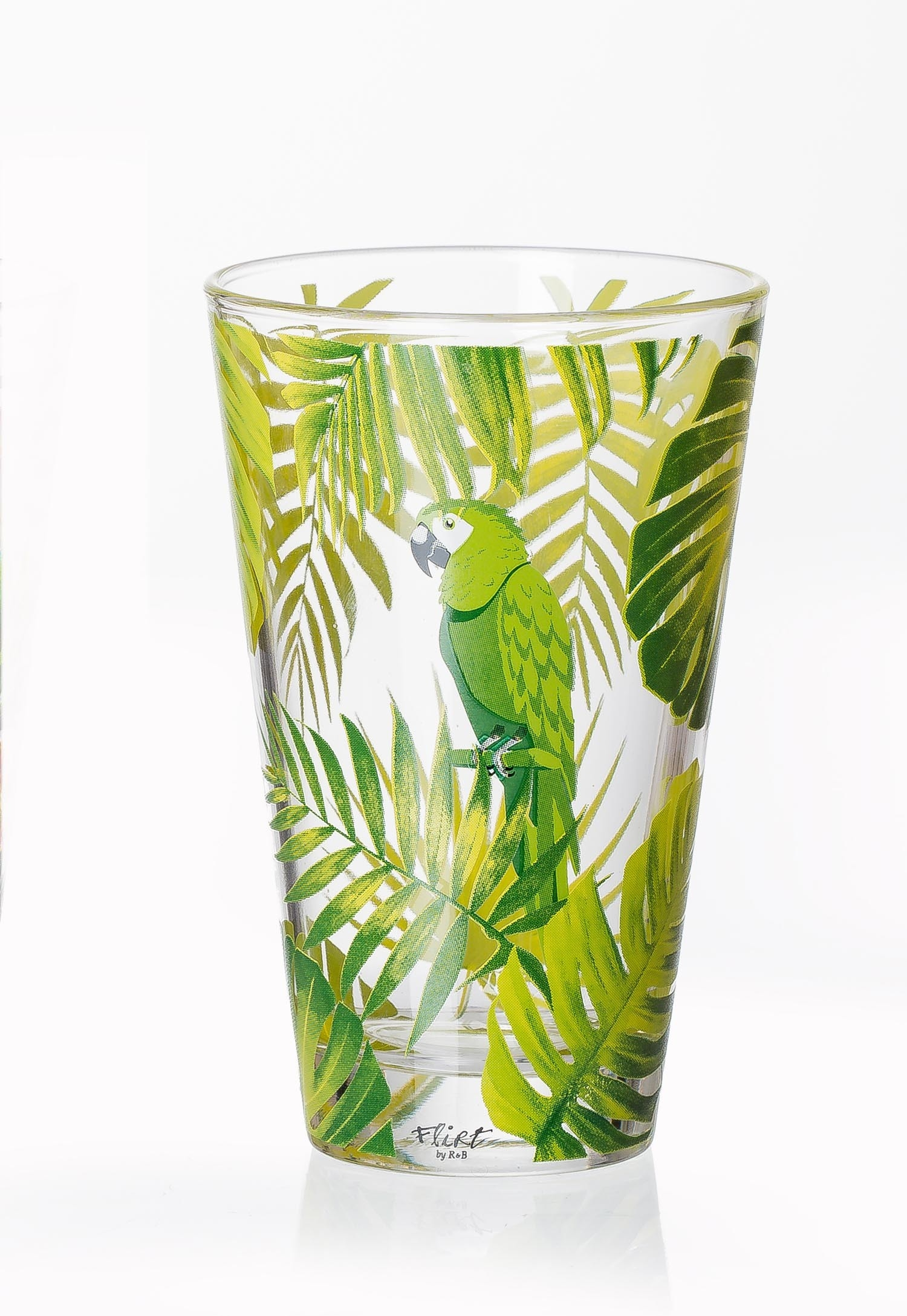 Set pahare Long Drink Jungle Green Parrot 310 ml 6 piese