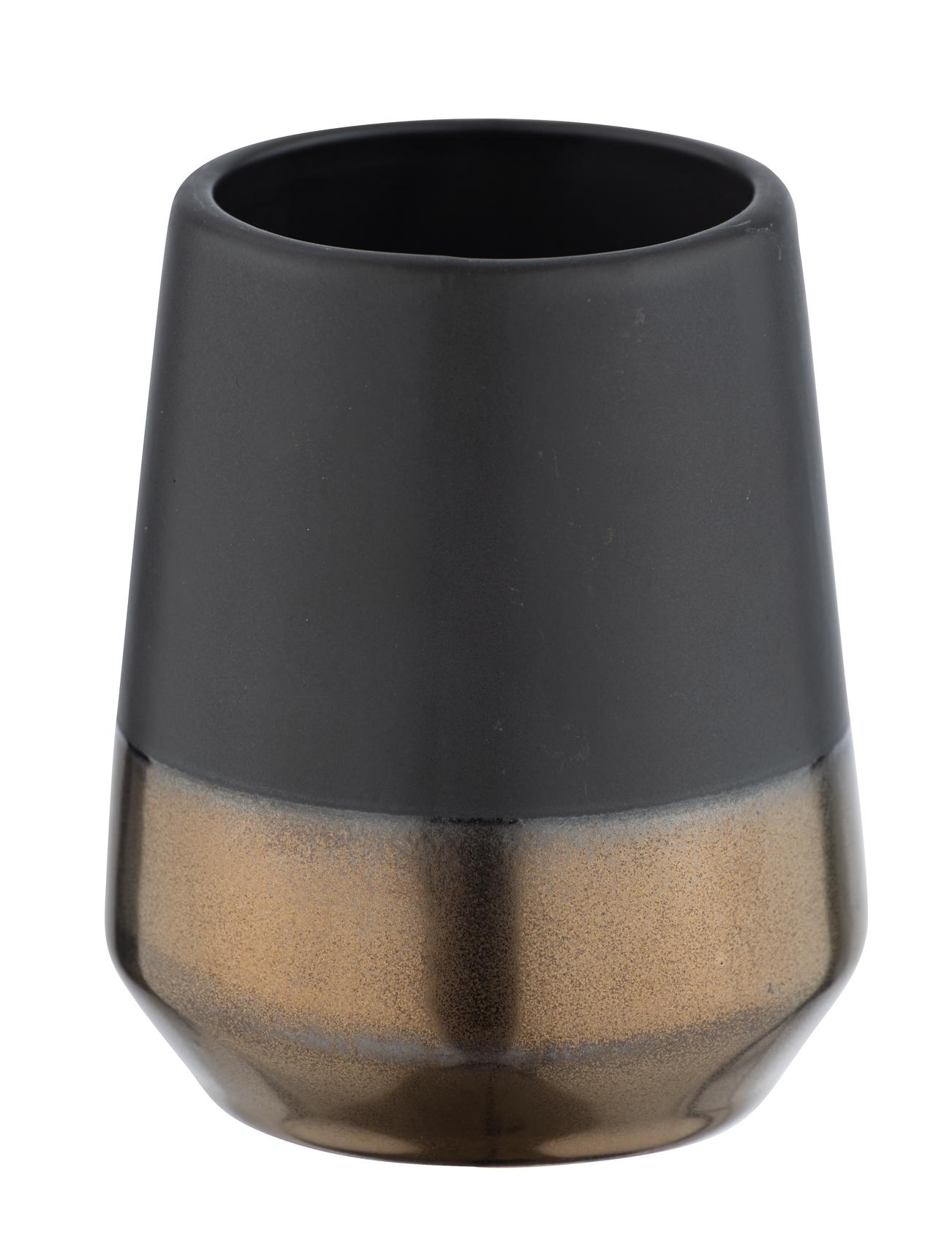 Pahar pentru periuta de dinti, din ceramica, Randol Negru, Ø8xH10 cm imagine
