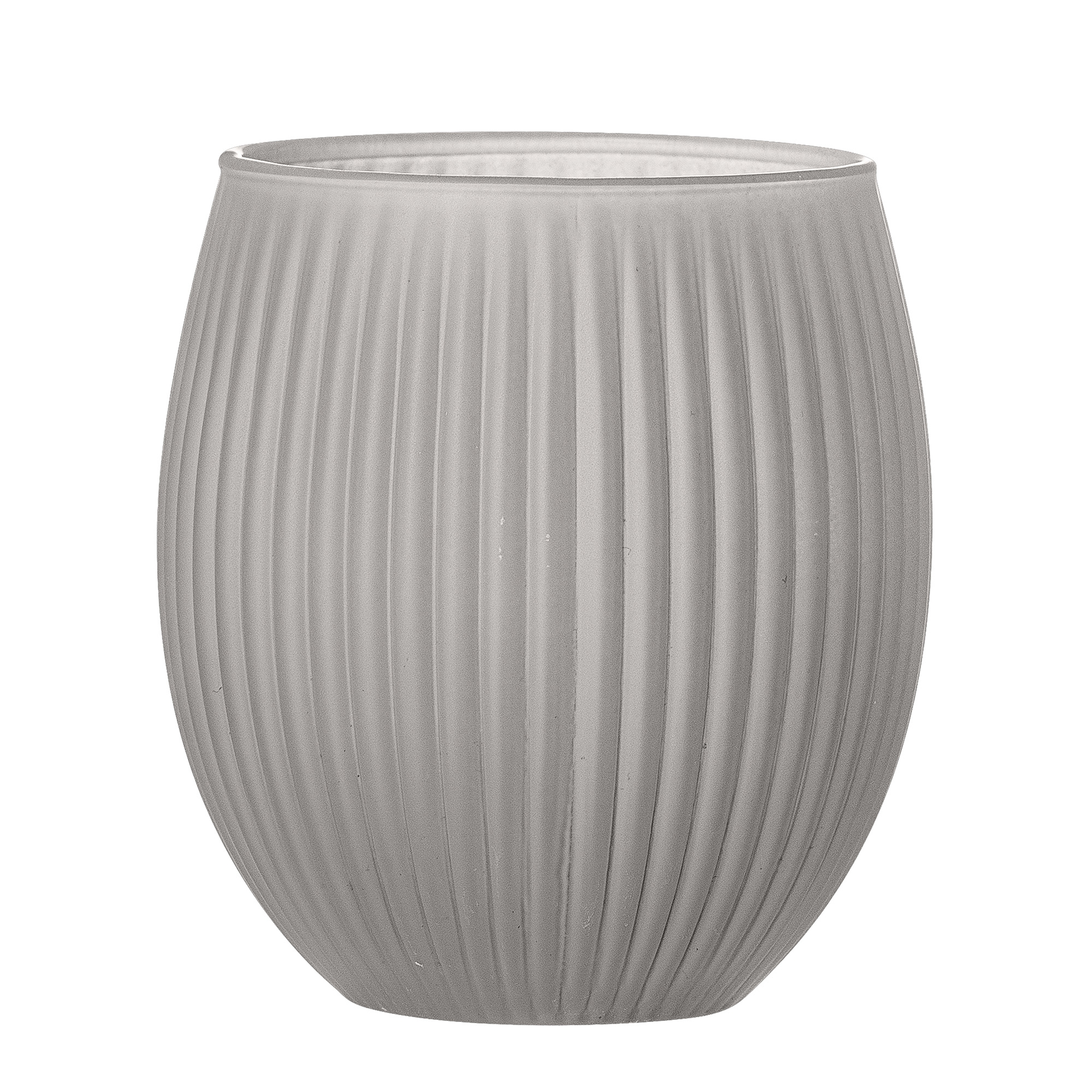 Pahar pentru periuta de dinti Grey Glass O9xH10 cm