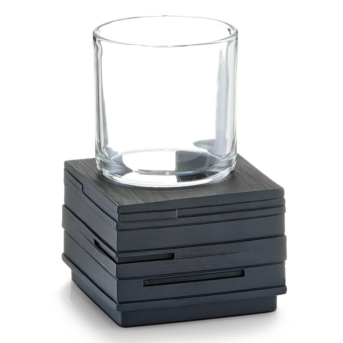 Pahar pentru periuta din polirasina, Slate Black, l8,3xA8,3xH11,5 cm imagine