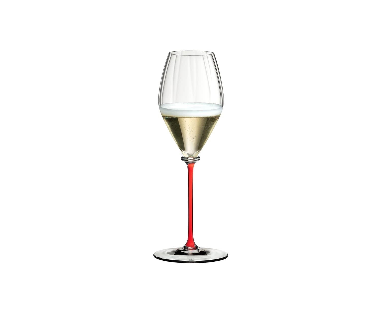 Pahar pentru sampanie, din cristal Fatto A Mano Performance Champagne Rosu, 375 ml, Riedel imagine