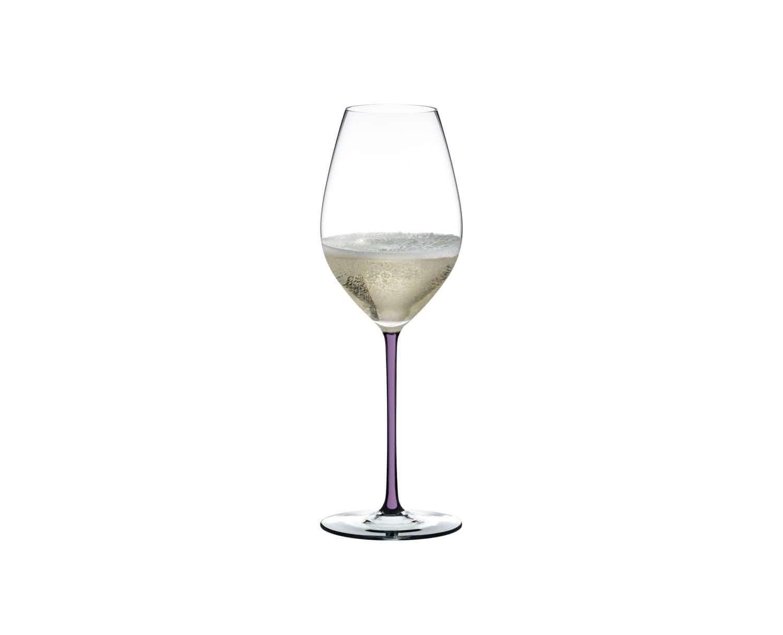Pahar pentru sampanie si vin spumant, din cristal Fatto A Mano Champagne Wine Violet, 445 ml, Riedel imagine
