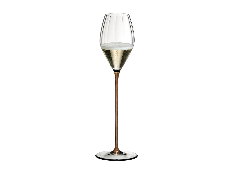 Pahar pentru sampanie si vin spumant, din cristal High Performance Champagne Auriu, 375 ml, Riedel imagine