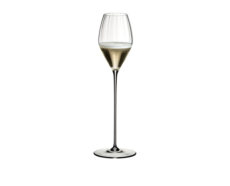Pahar pentru sampanie si vin spumant, din cristal High Performance Champagne Clear, 375 ml, Riedel imagine