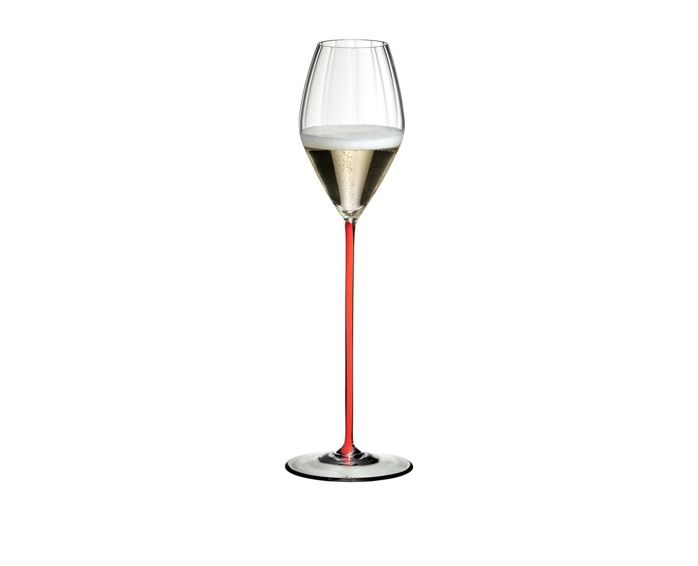 Pahar pentru sampanie si vin spumant, din cristal High Performance Champagne Rosu, 375 ml, Riedel imagine