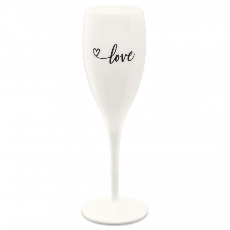 Pahar pentru sampanie Unbreakable Superglas Alb, Love, 100 ml