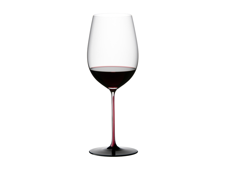 Pahar pentru vin, din cristal Black Series Bordeaux Grand Cru Burgundy / Negru, 860 ml, Riedel