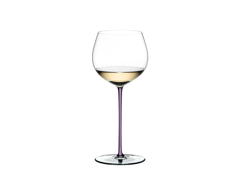 Pahar pentru vin, din cristal Fatto A Mano Oaked Chardonnay Violet, 620 ml, Riedel imagine