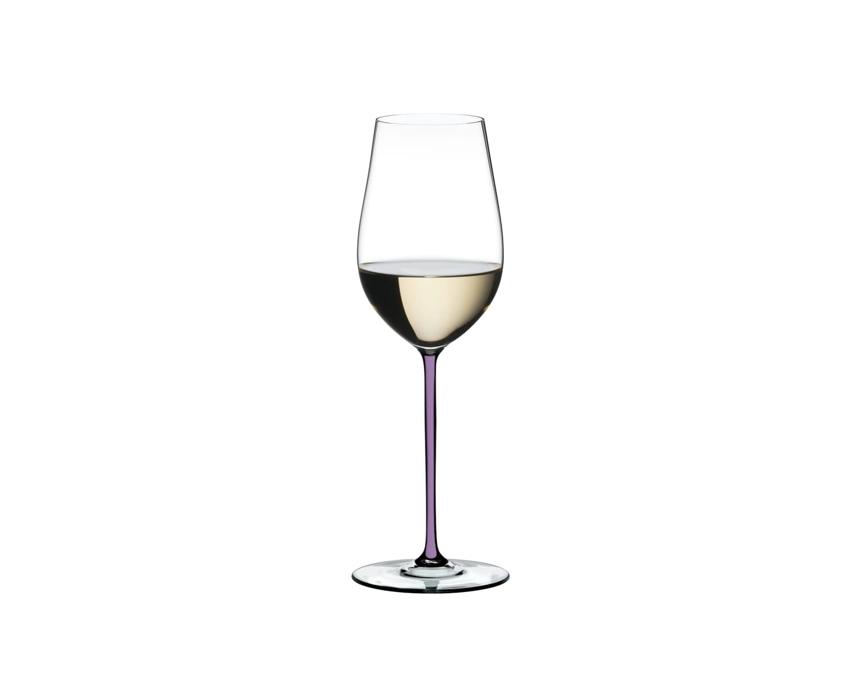 Pahar pentru vin, din cristal Fatto A Mano Riesling / Zinfandel Violet, 395 ml, Riedel imagine