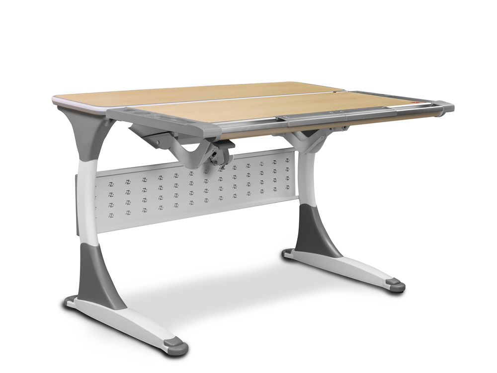 Masa de birou Palermo Ergodesk, White / Gray, L120xl84h55 cm