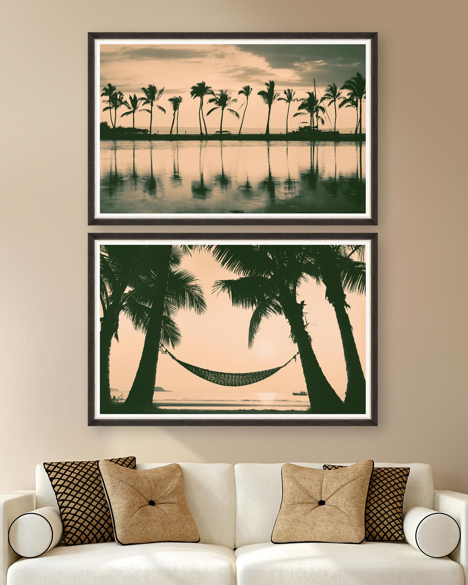 Tablou 2 piese Framed Art Palm Trees