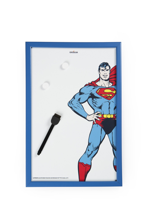 Memo Board cu rama din lemn, l30xH45 cm, Superhero Superman