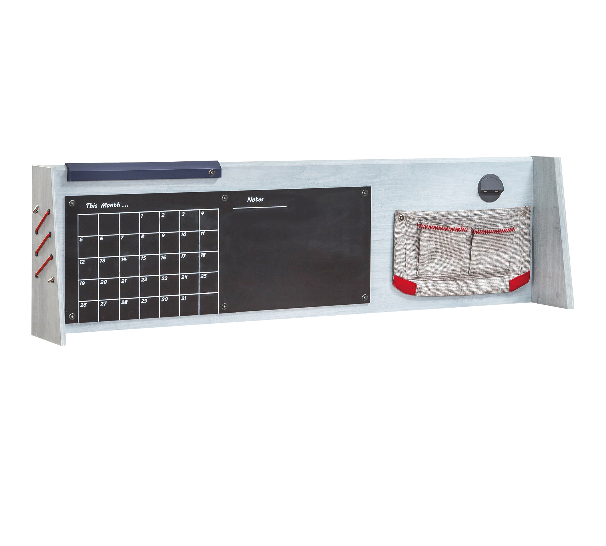 Panou multifunctional cu Memo Board si USB Trio, l138xA21xH40 cm