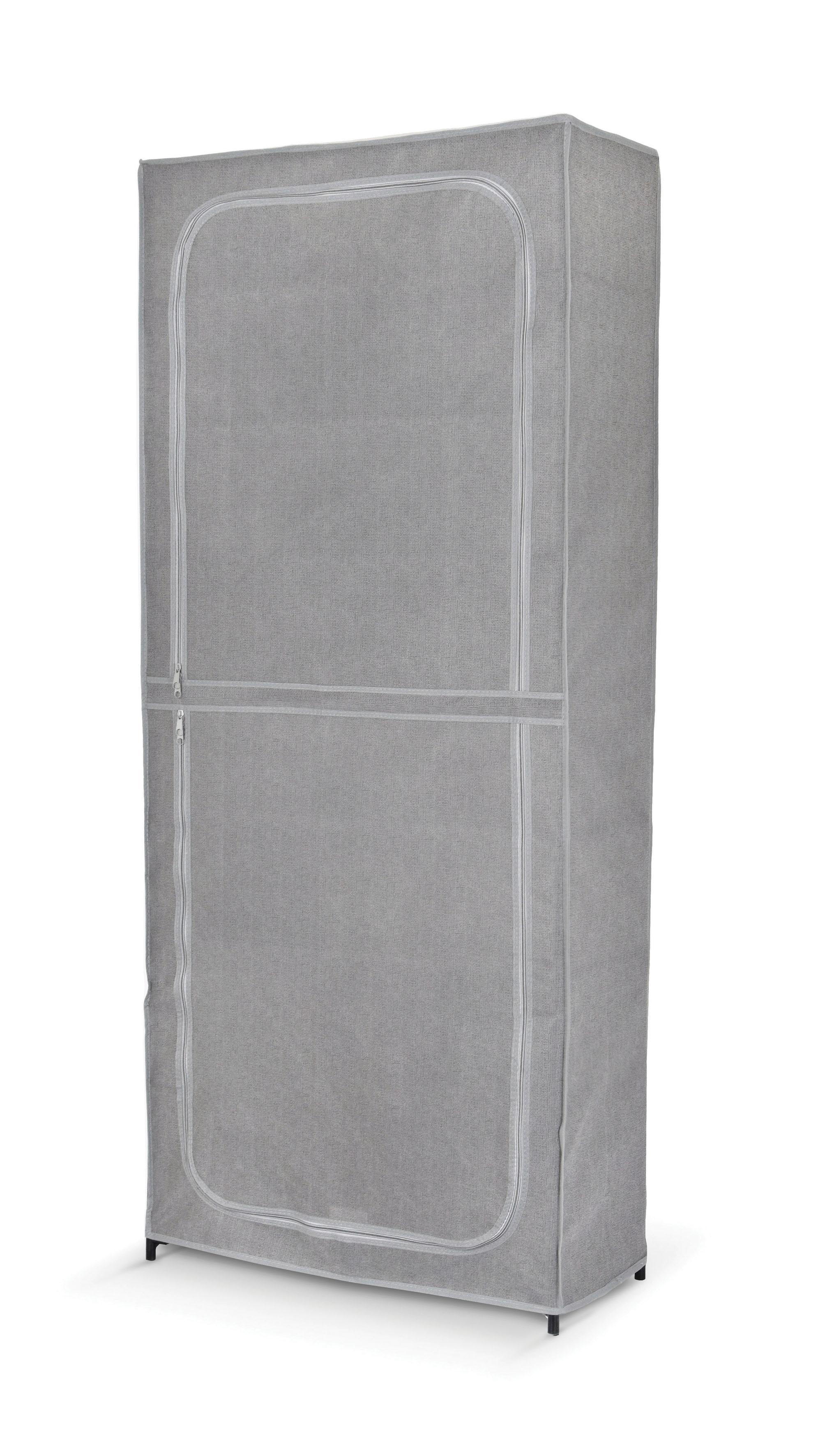 Suport textil pentru incaltaminte, 7 rafturi, Clara II Gri, l68xA30xH160 cm imagine