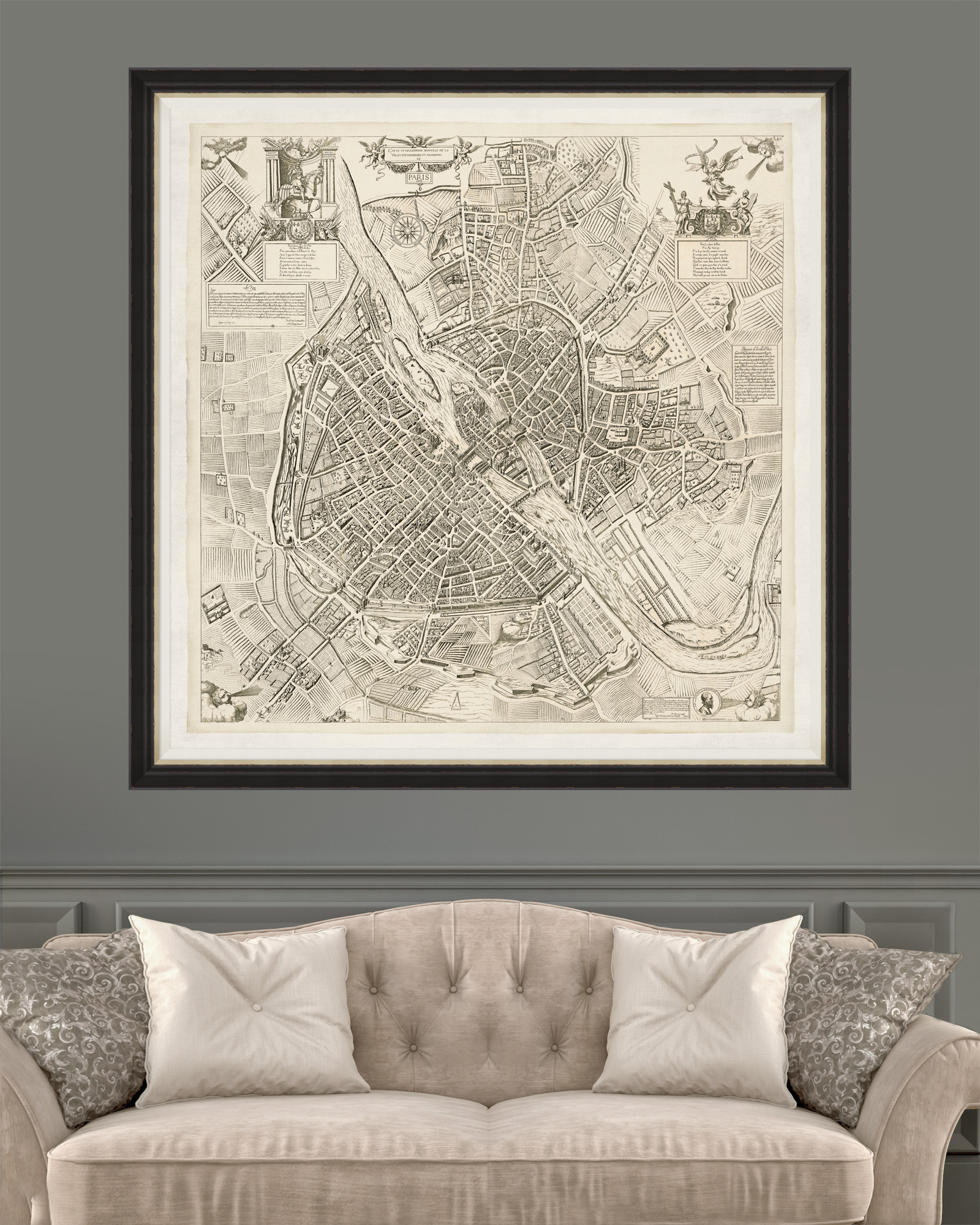 Tablou Framed Art Paris Map 1609