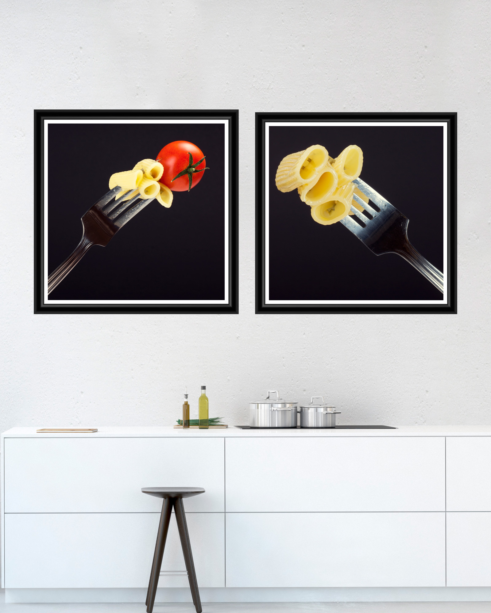 Tablou 2 piese Framed Art Pasta and Fork