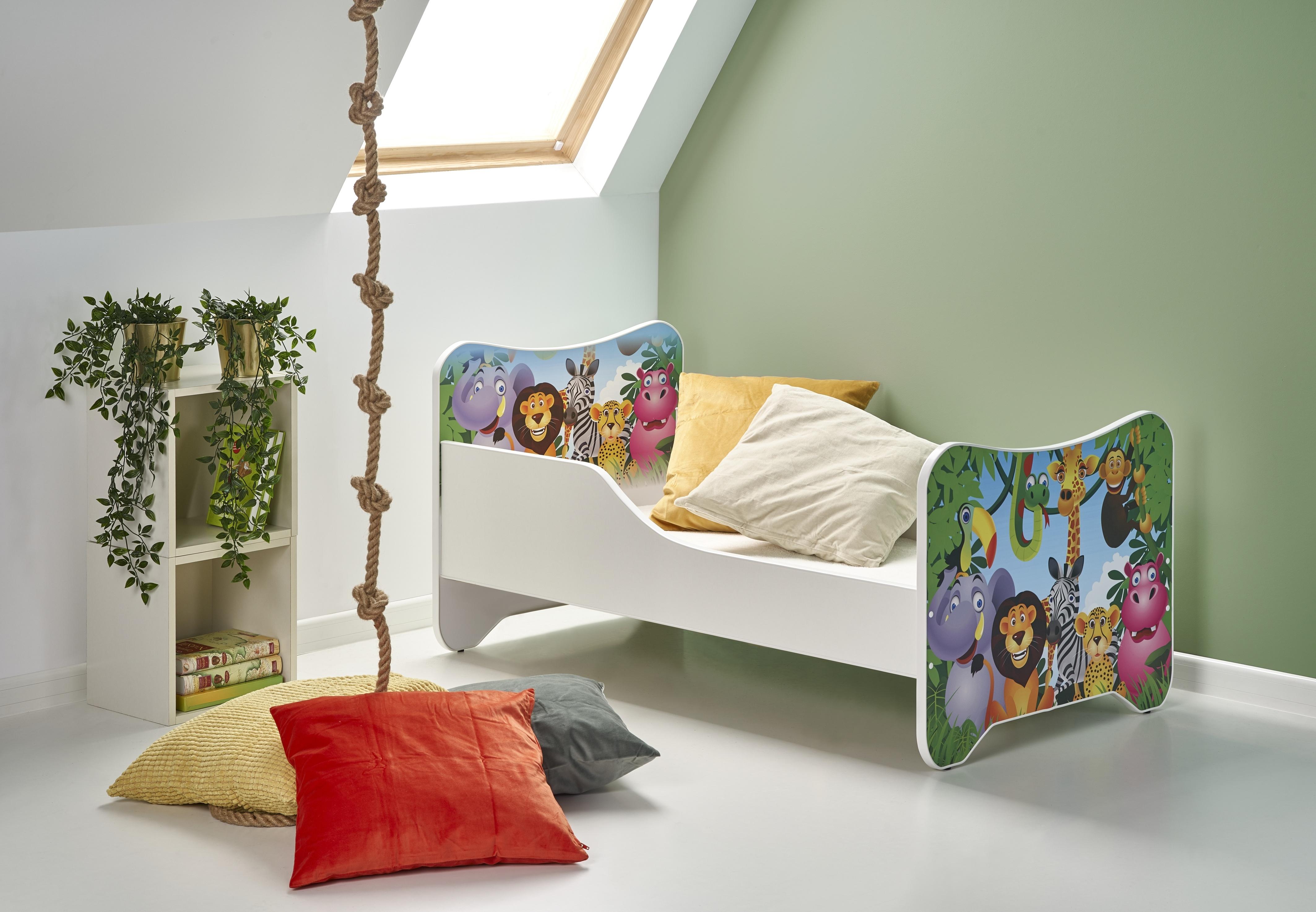 Pat Copii Happy Jungle Alb Multicolor - 15676