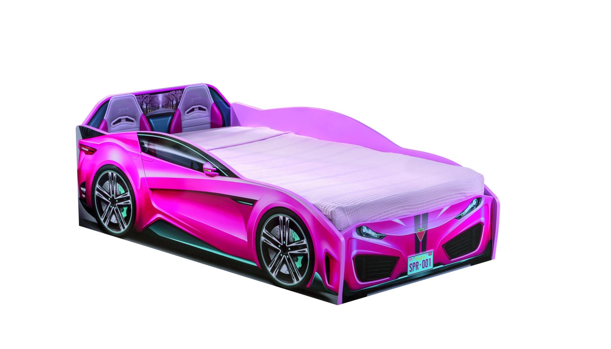 Pat din pal pentru copii Spyder Pink, 130 x 70 cm