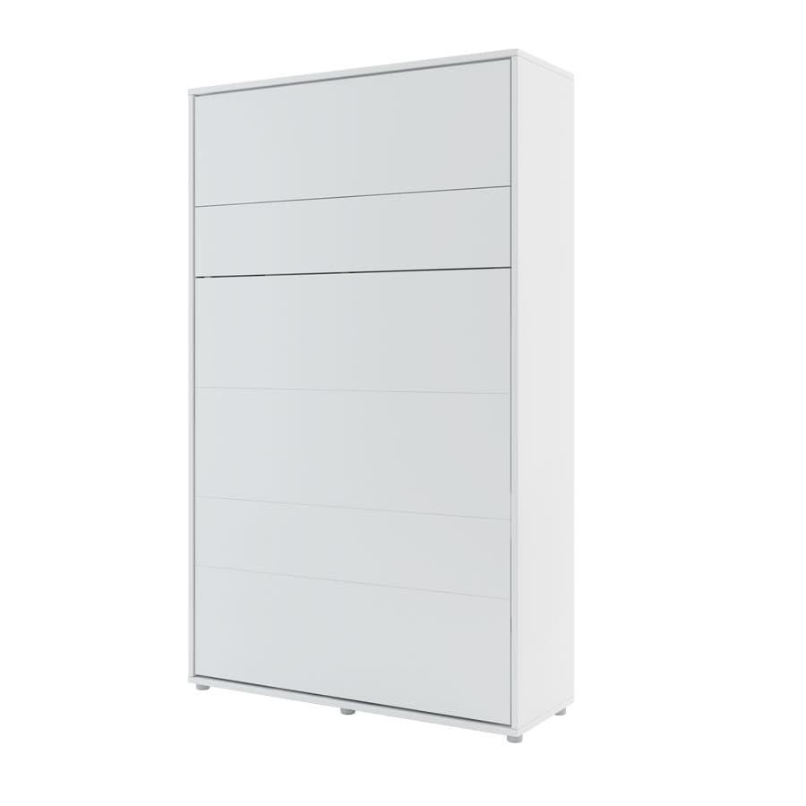 Pat rabatabil pe perete, cu mecanism pneumatic si somiera inclusa, Bed Concept Vertical Alb, 200 x 120 cm somproduct.ro
