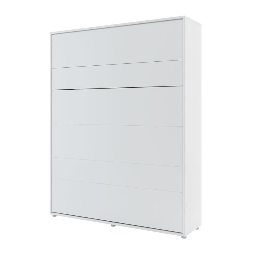 Pat rabatabil pe perete, cu mecanism pneumatic si somiera inclusa, Bed Concept Vertical Alb, 200 x 160 cm somproduct.ro