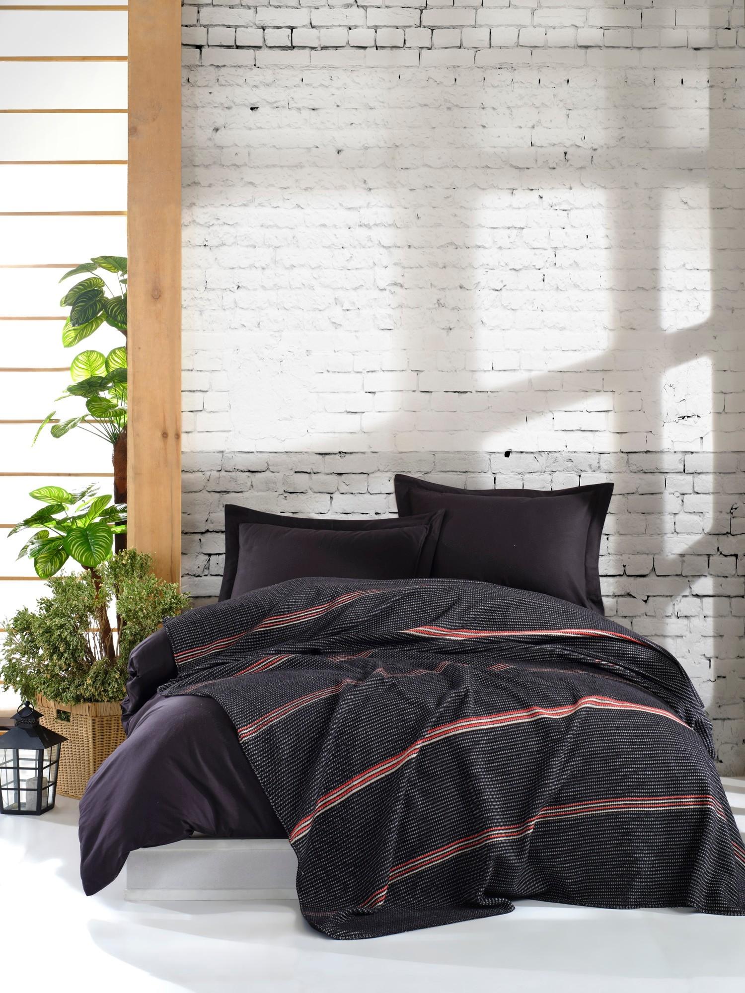 Patura Cigli Negru, 180 x 220 cm imagine