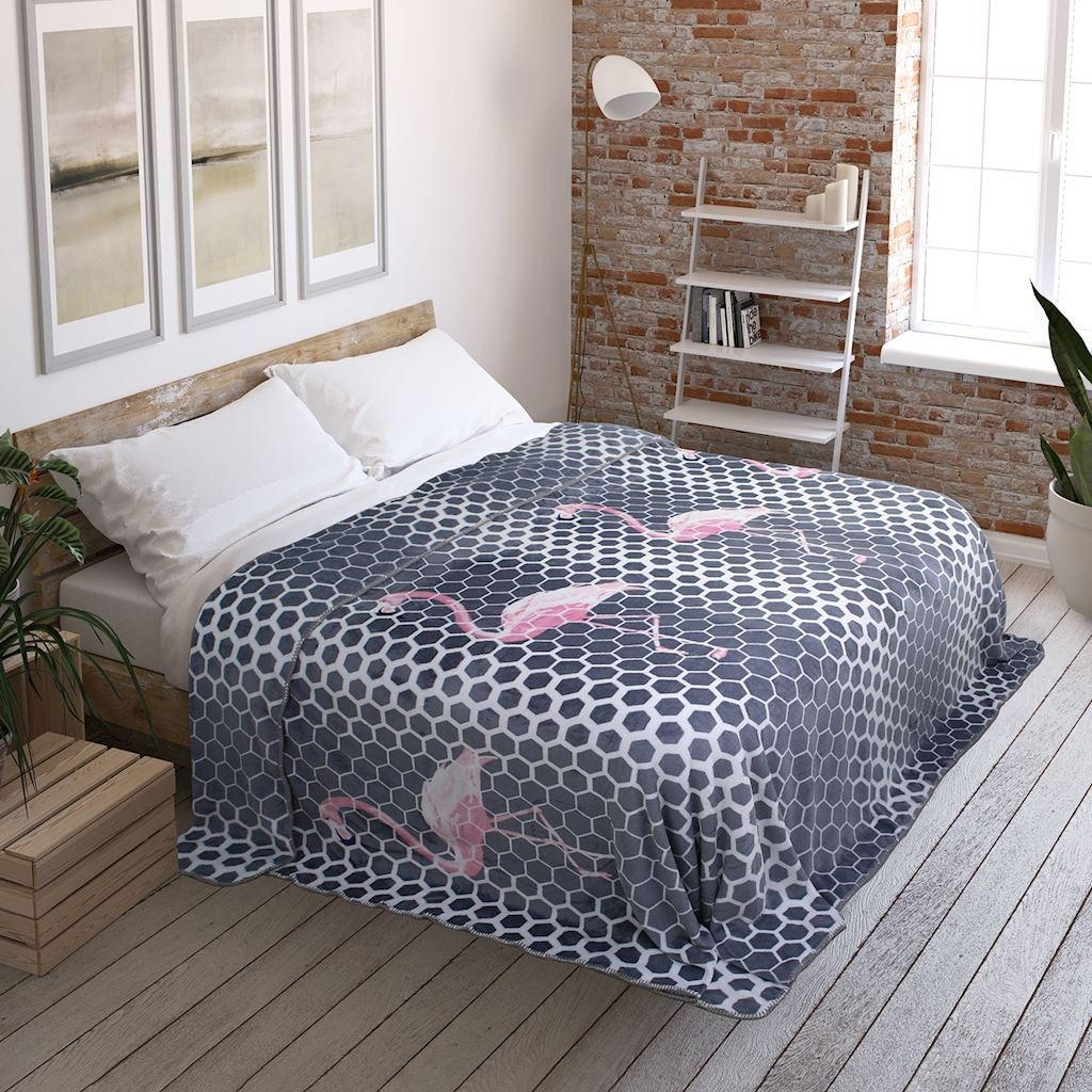Patura Cuddle Flamingo din categoria Textile