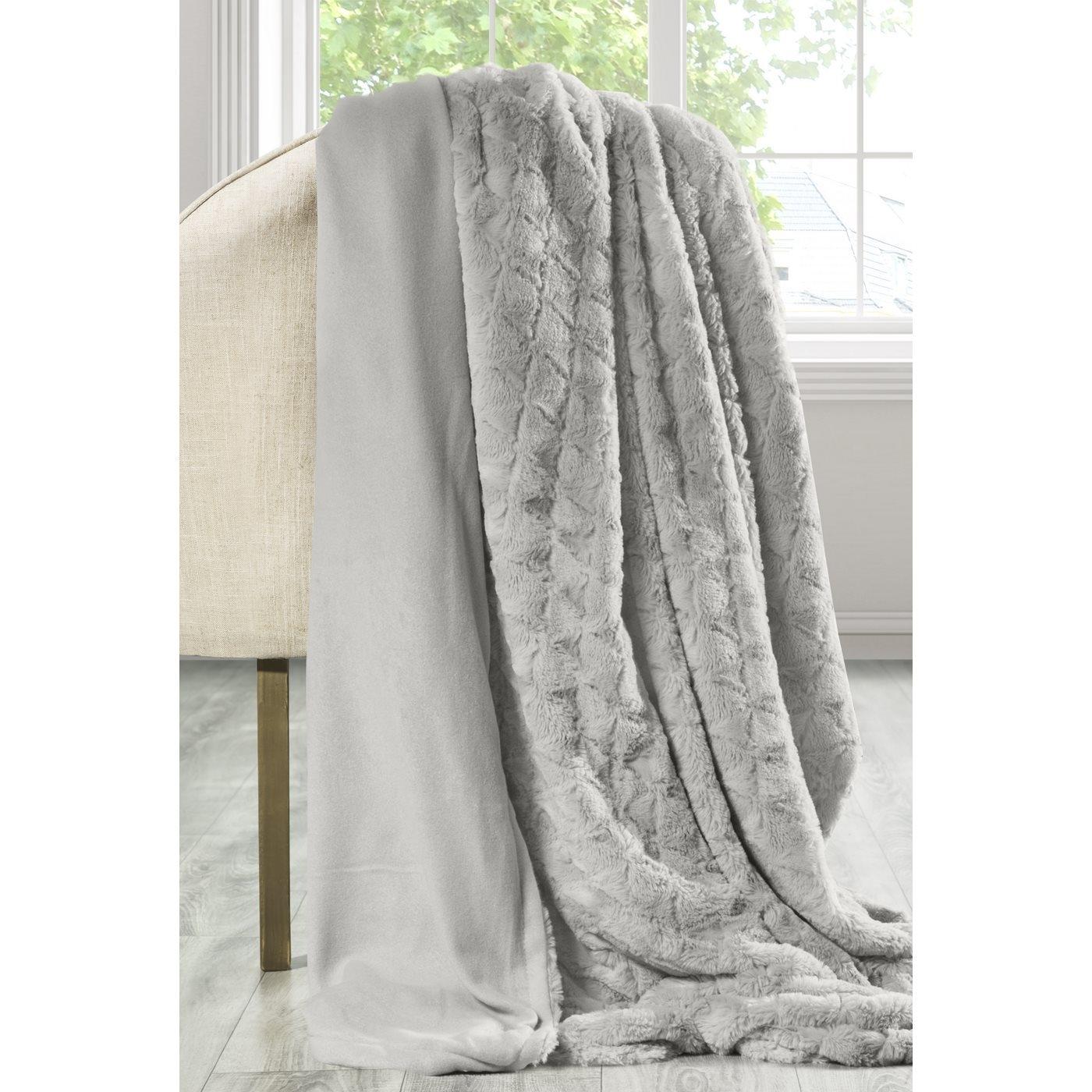 Patura din blana sintetica Andrea Grey 220 x 240 cm