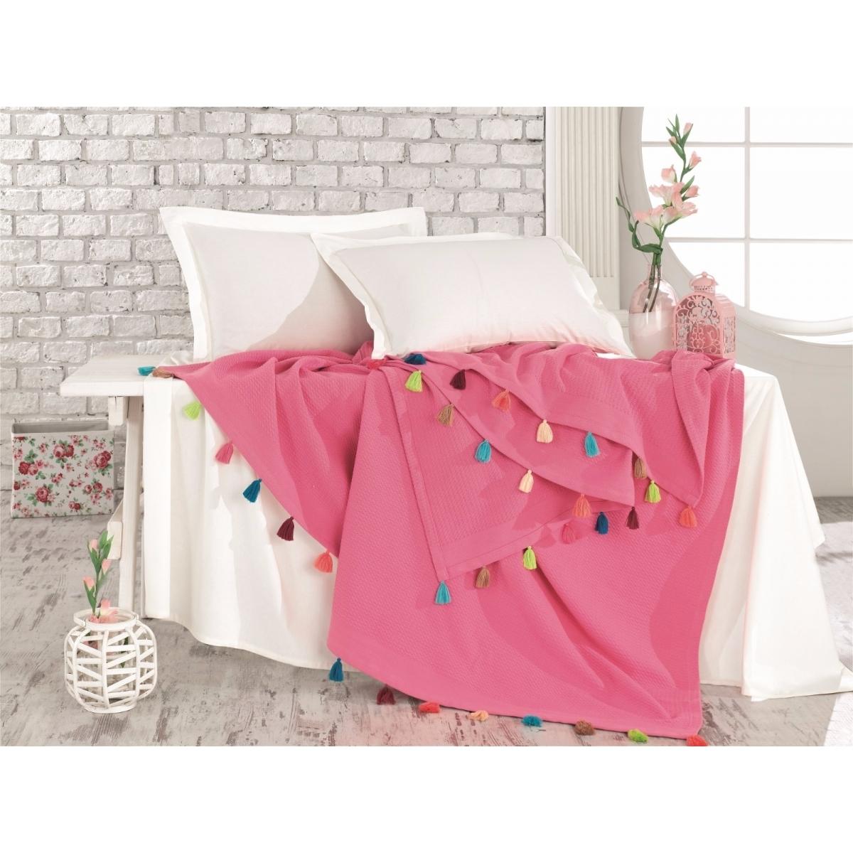 Patura din bumbac Pop-Art P3 Pink 220 x 240 cm