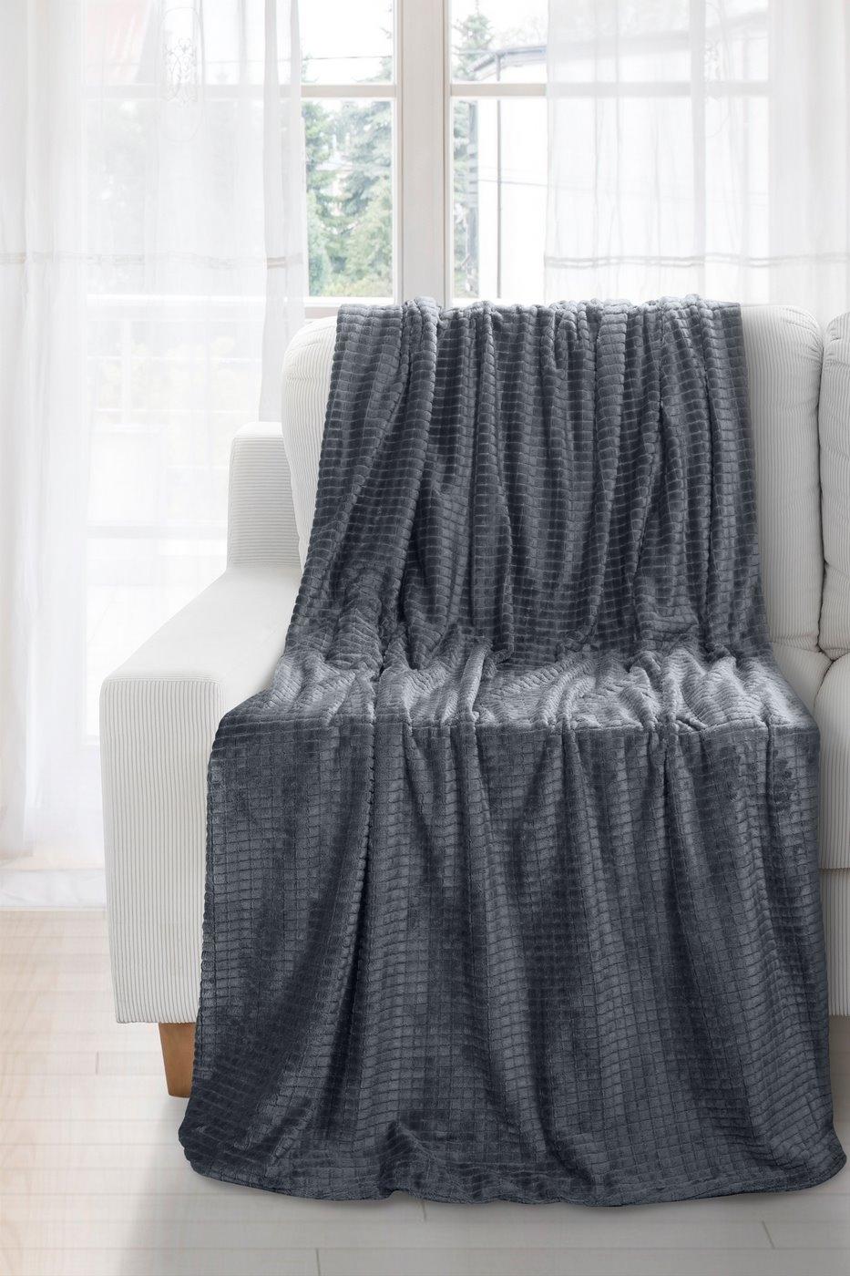 Patura Hugo Dark Grey 150 x 200 cm