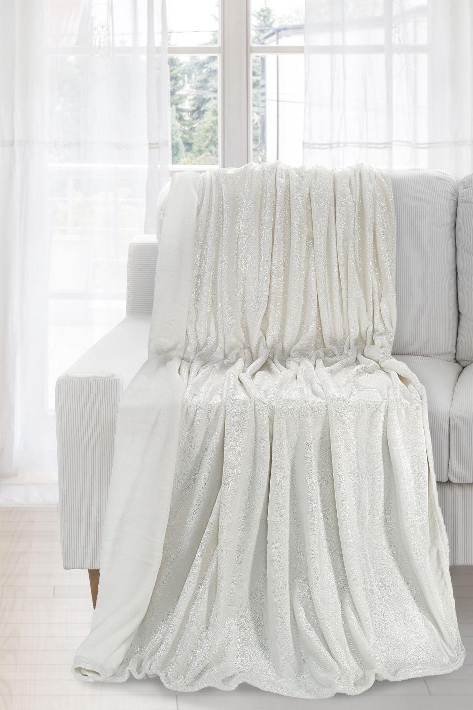 Patura Iga White / Silver 170 x 210 cm