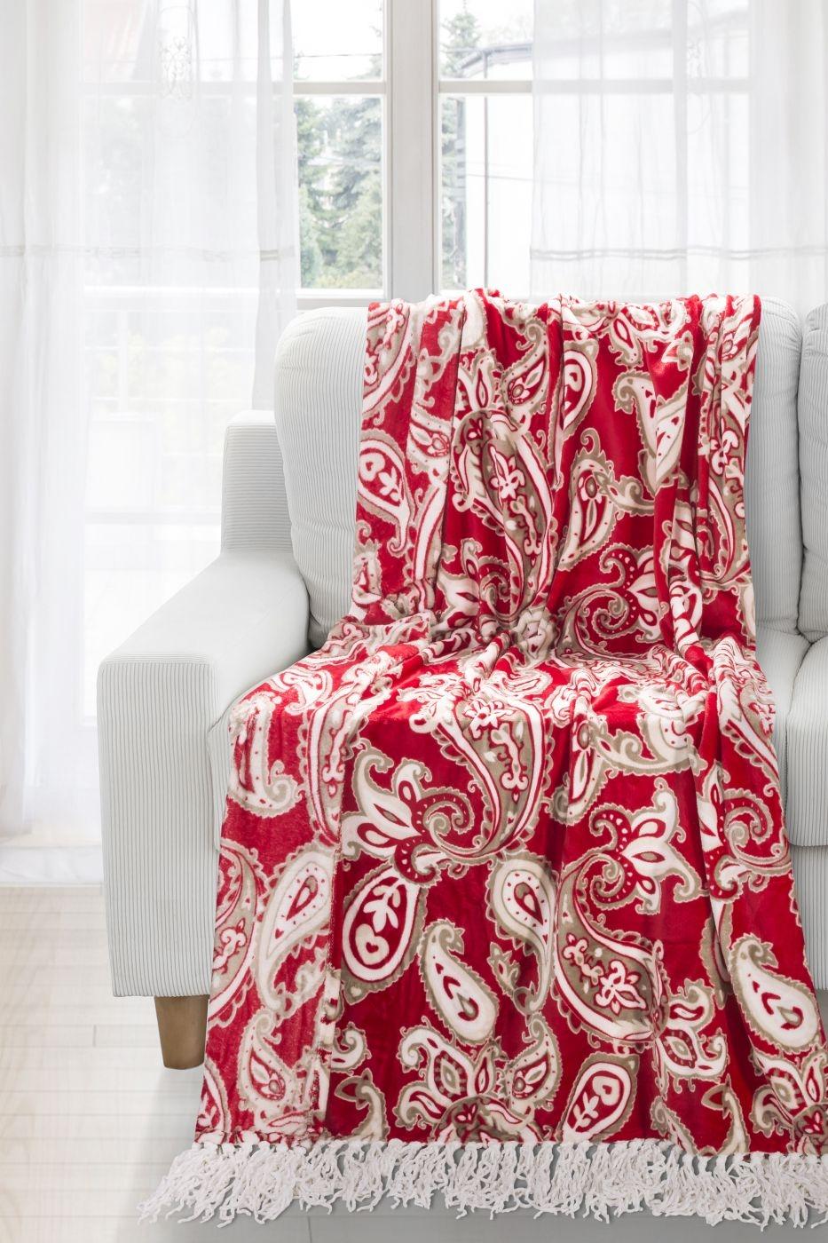 Patura Lily Red / Cream 150 x 200 cm
