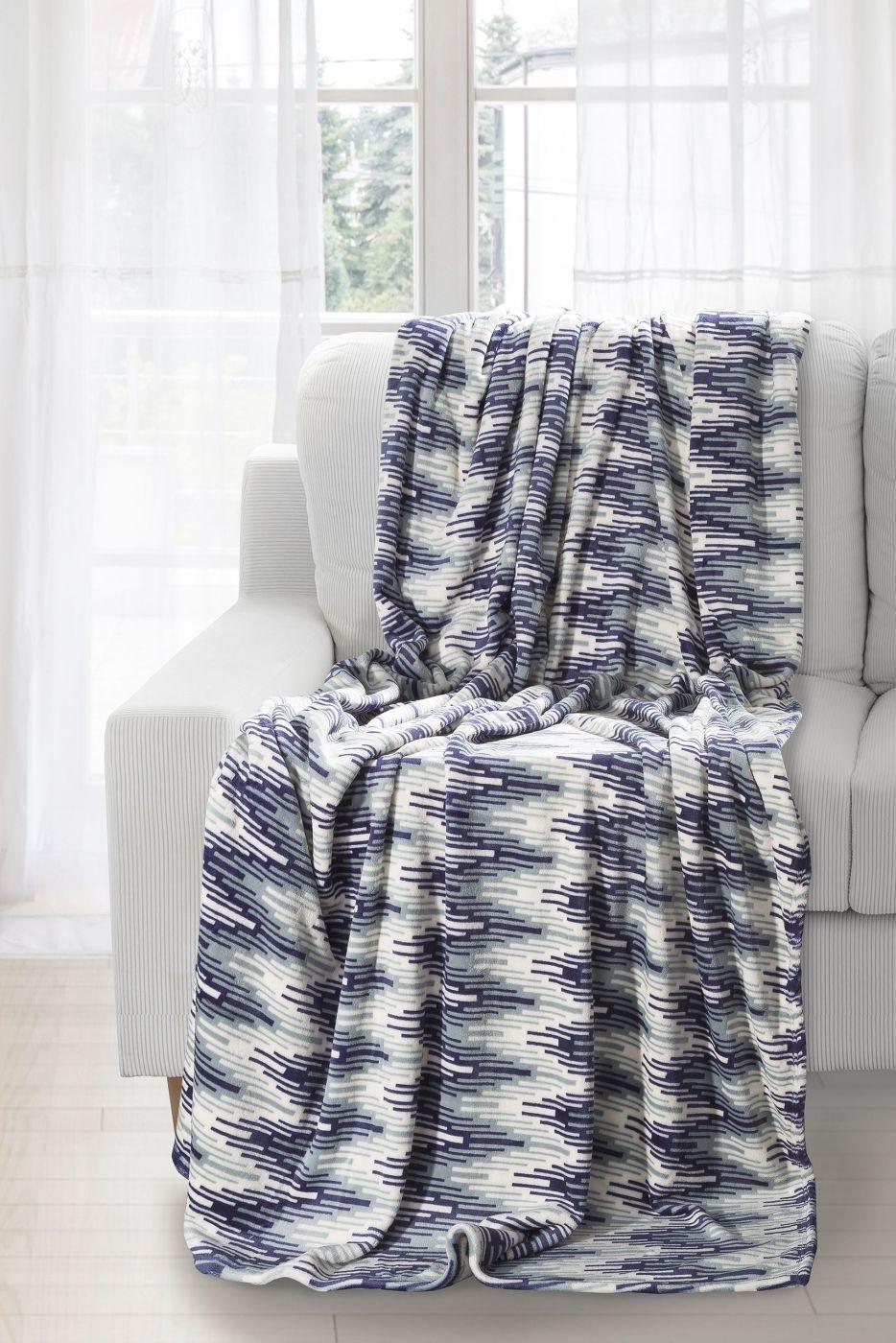 Patura Lucas Blue / White 150 x 200 cm
