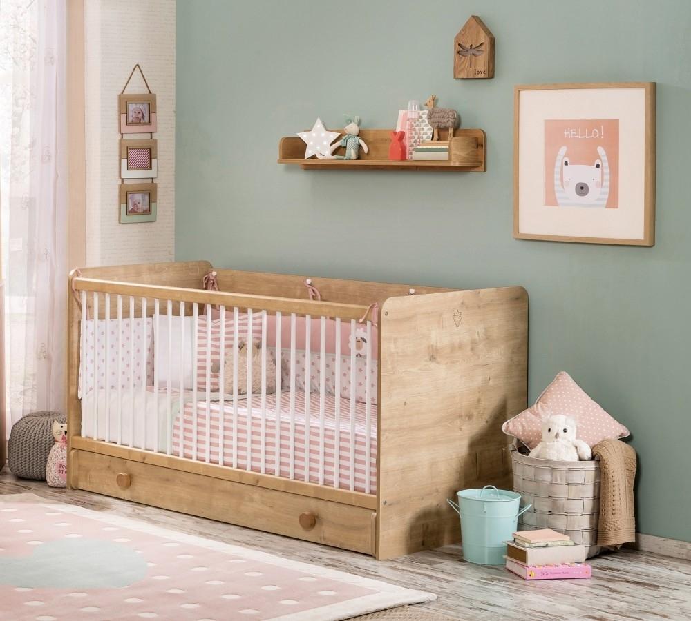 Patut din pal cu sertar, pentru bebe Mocha Baby Nature, 140 x 70 cm imagine