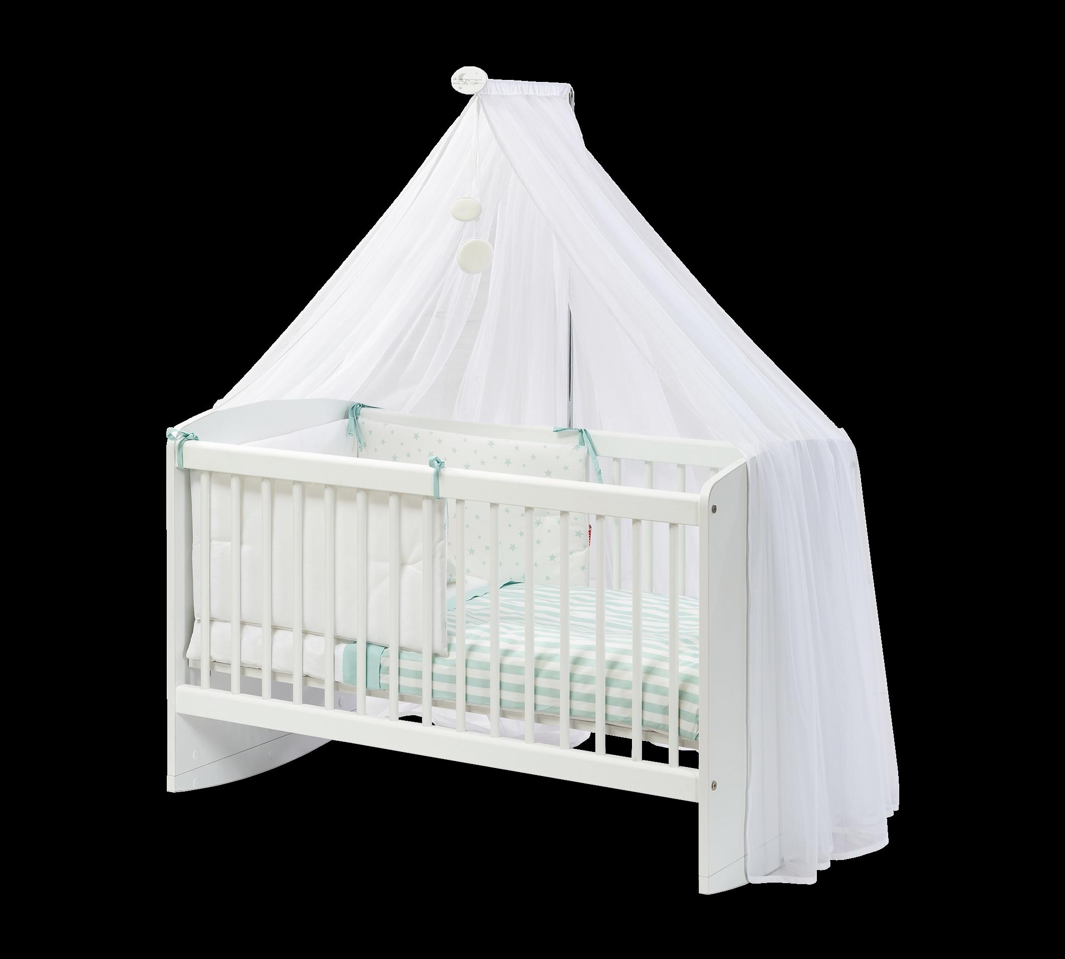 Patut din pal cu sistem de leganare pentru bebe Cradle Baby Alb 100 x 50 cm