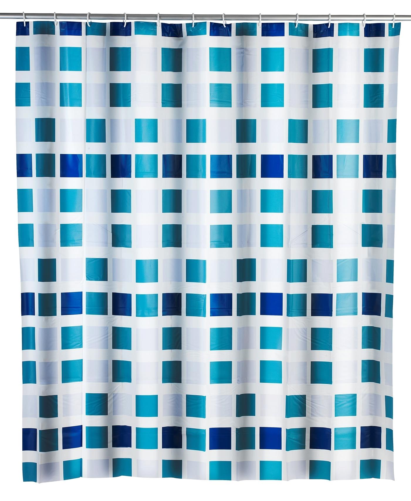 Perdea dus din PEVA, Mosaic Multicolor, 180 x 200 cm imagine