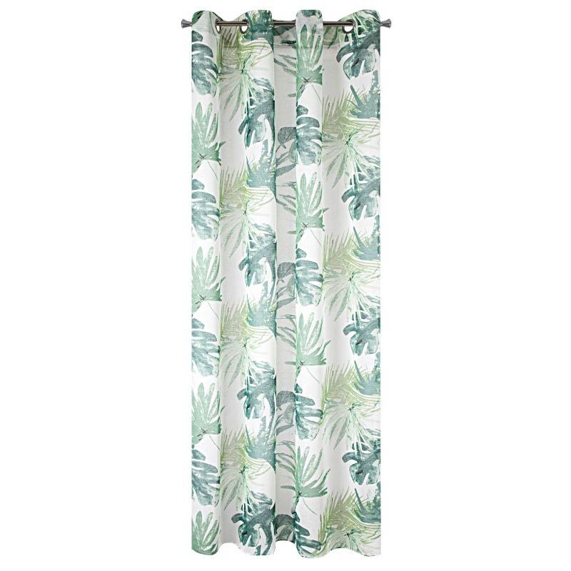 Perdea Ness Alb / Verde, 140 x 250 cm, 1 bucata somproduct.ro