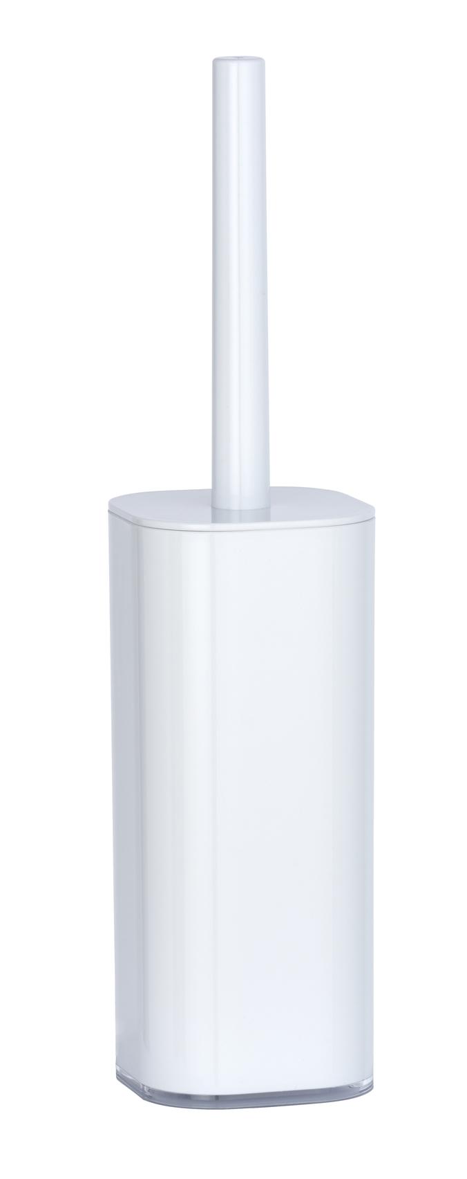 Perie de toaleta cu suport din acril, Oria Alb, L9xl9xH38,5 cm imagine