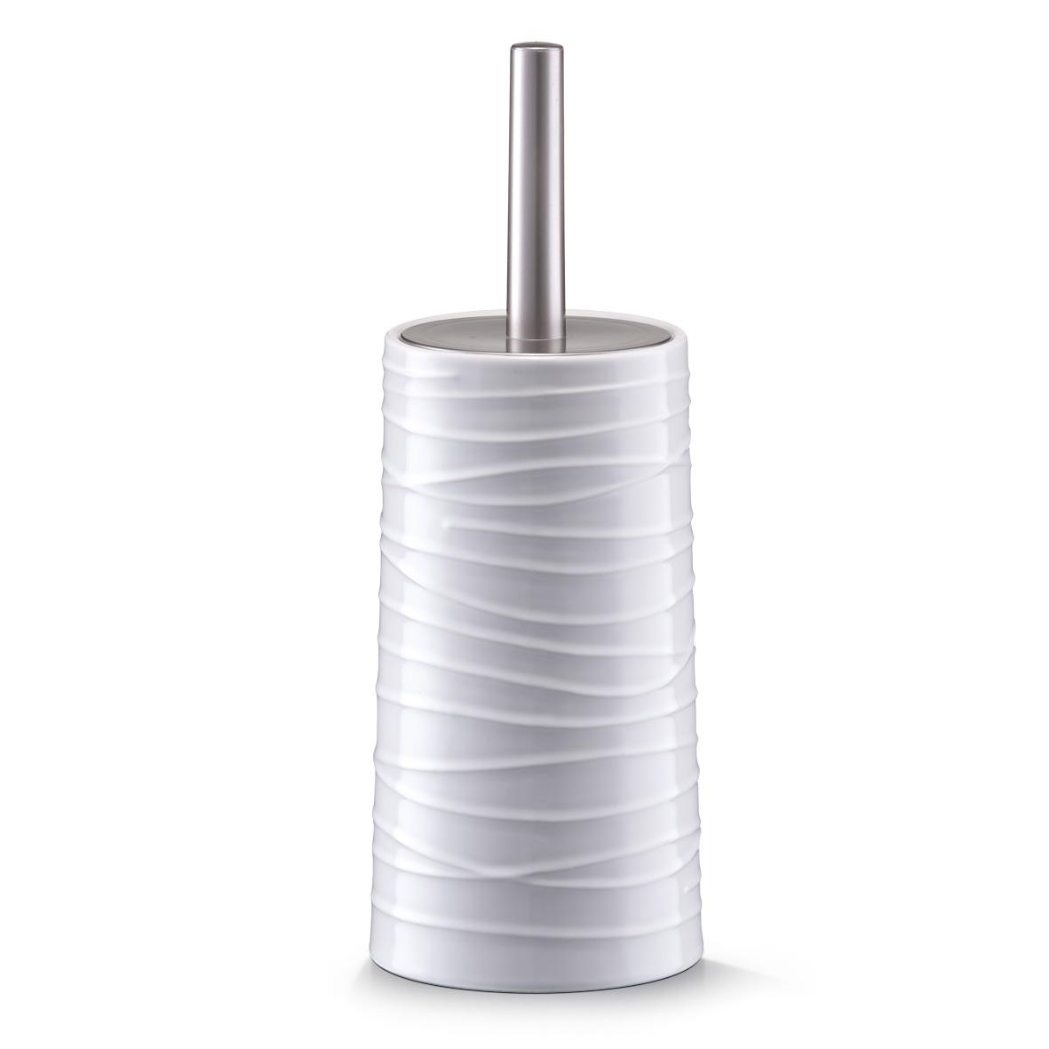 Perie de toaleta cu suport din ceramica, White, Ø 11,5xH32 cm imagine
