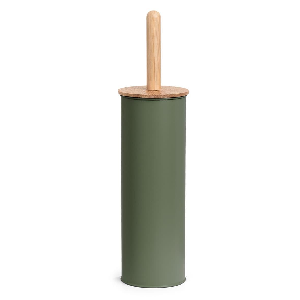 Perie de toaleta cu suport din metal, Shade III Verde Inchis, Ø10xH38,4 cm somproduct.ro