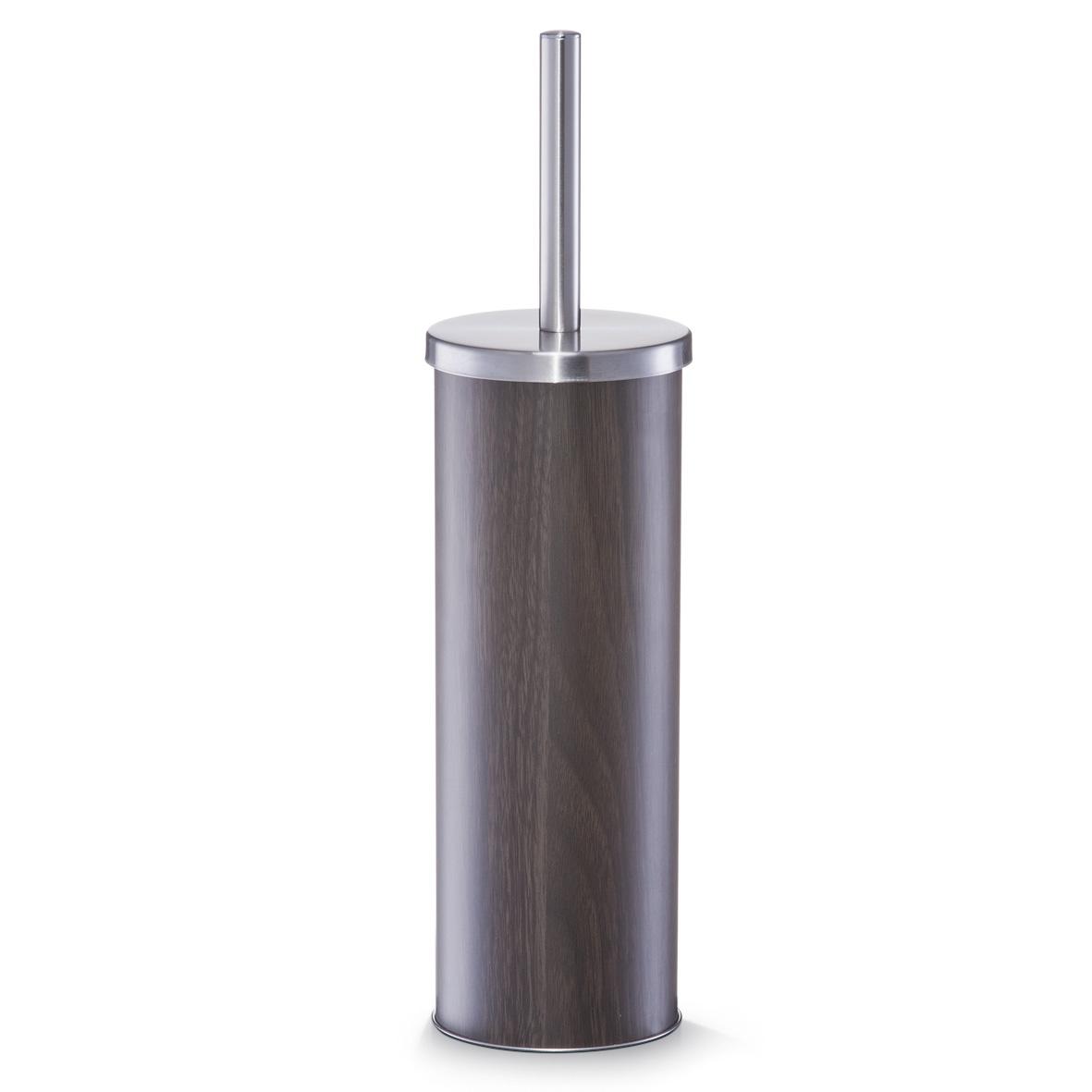 Perie de toaleta cu suport din metal, Walnut Optic, Ø 9,5xH38 cm imagine